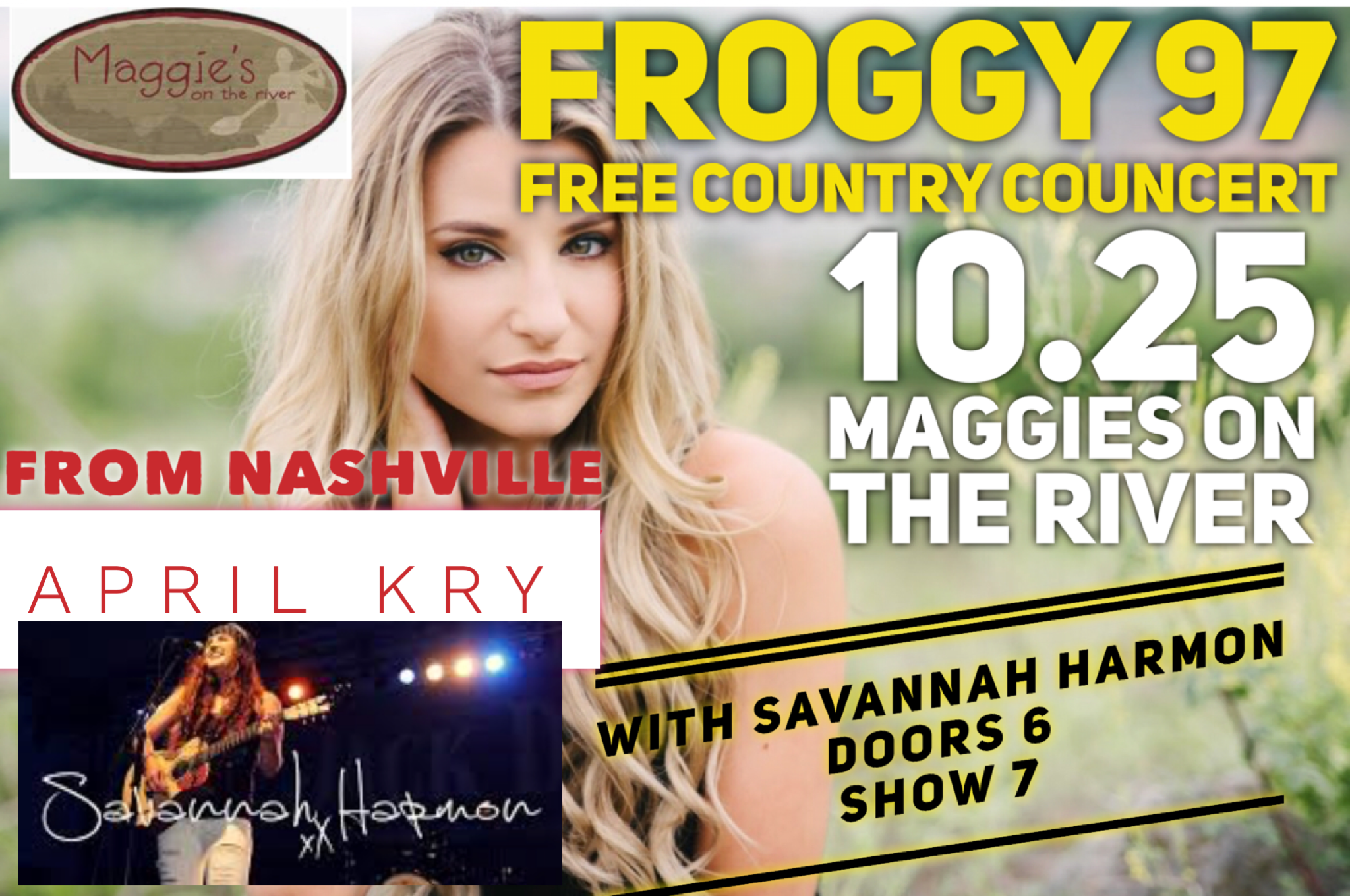 FREE COUNTRY CONCERT AT MAGGIES ON THE RIVER