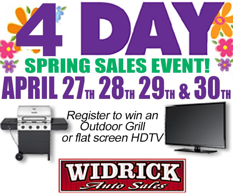 Widrick Auto Sales Spring Sales Event